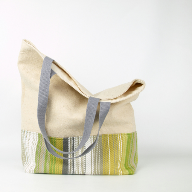 Linen Grocery Tote Bag