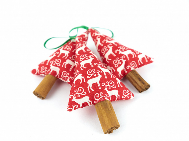 Reindeer Fabric Christmas Decorations