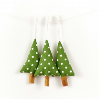 Rustic Handmade Christmas Decorations Set of 3