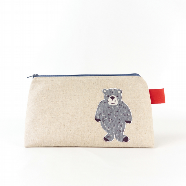 Natural Linen Animal Toiletry Bag Makeup Bag Shaving Kit Dopp Bag