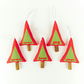 Christmas Decorations with Christmas Sayings - Peace Love Joy Noel Hohoho - Red