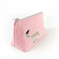 Cute Makeup Bag with Fox and Squirrel - Gift for Her