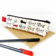 Cat Fabric Cute Pencil Case Small Pen Pouch Accessory Storage Cat Lover Gift