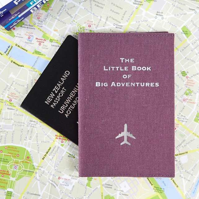 Passport Cover - The Little Book of Big Adventures - Purple - Travel Gift