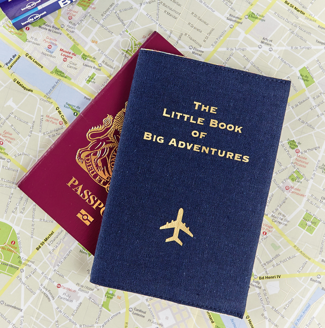 The Little Book of Big Adventures Passport Cover - Navy - Travel Gift