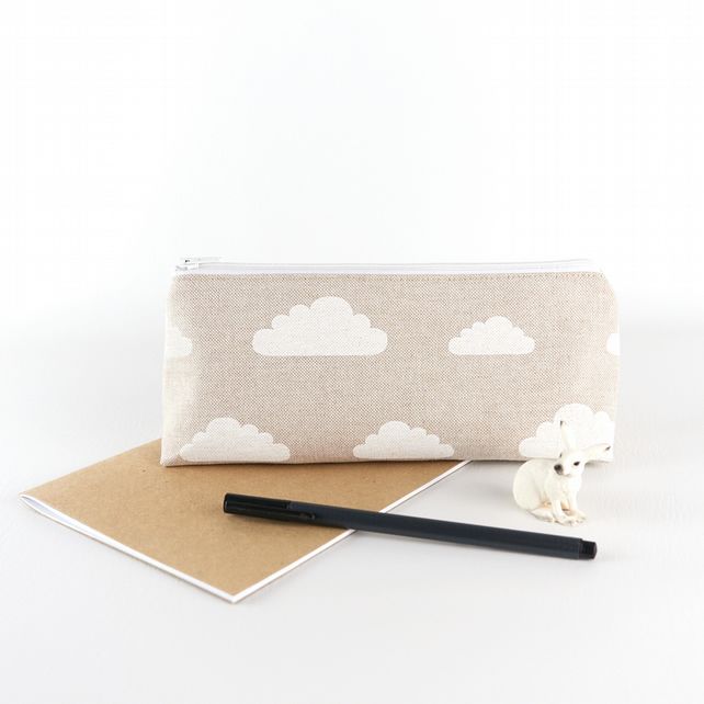 Whatever the Weather - Large Pencil Case or Makeup Bag - Minimalist Style
