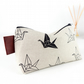 Origami Cranes Wash Bag Large Mens Zipper Pouch Shaving Kit Bag