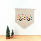 Modern Kids Room Wall Art Hanging Fabric Camper Van Pennant New Baby Gift