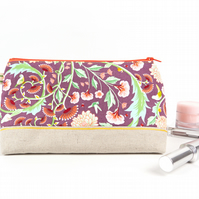 Floral Embroidered Makeup Bag Birthday Present for Mum