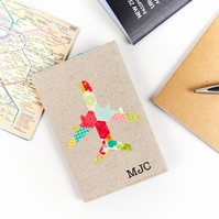Monogram Passport Cover Personalised Travel Gift for Kids