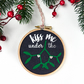 Kiss Me Under the Mistletoe Hanging Christmas Decoration Party Decor
