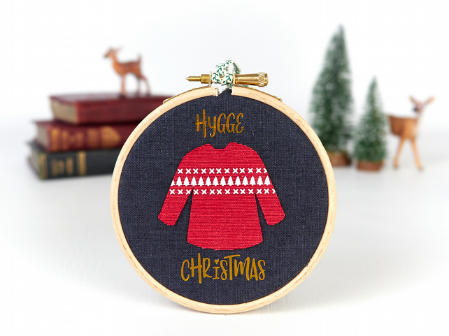 Hygge Christmas Jumper, Funny Christmas Decoration