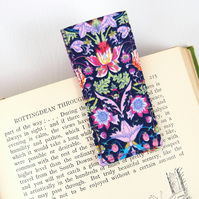 Magnetic Fold Over Liberty Fabric Bookmark, Unique Stocking Filler