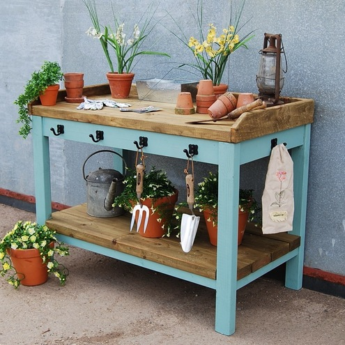 Large Garden Potting Table Folksy
