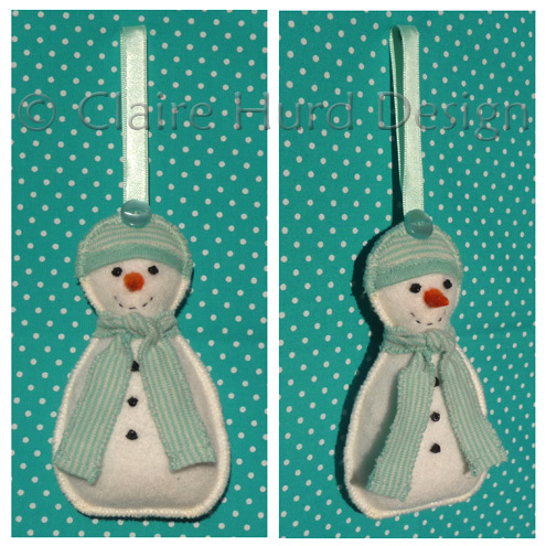 Christmas Snowman Hanging Decoration