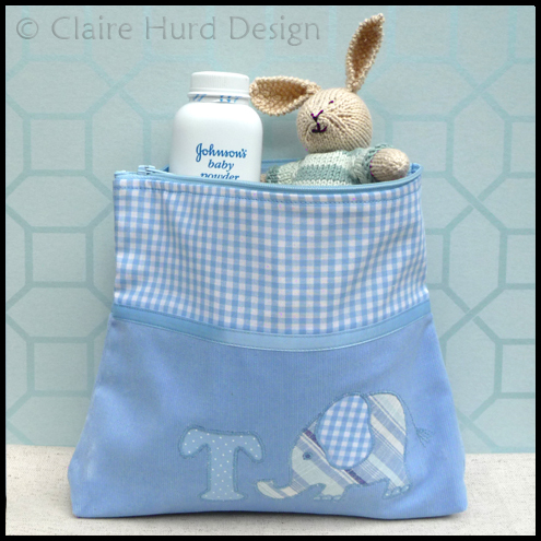 Personalised Baby Wash Bag (Blue or Pink)