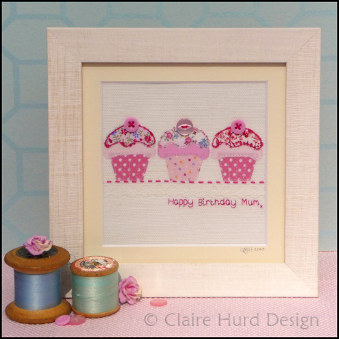 Personalised Embroidered Cupcake Artwork