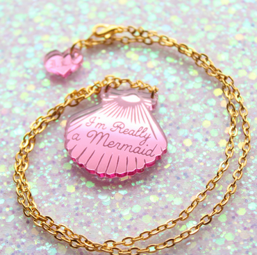 Mini Pink Shell Necklace