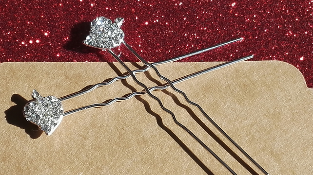 Sparkly Leaf hair pins