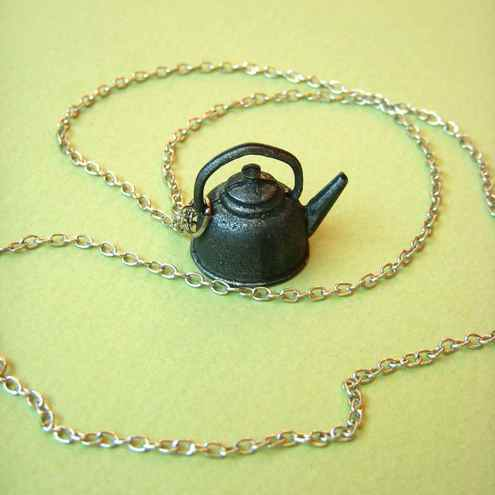 Calling the Kettle Black Necklace