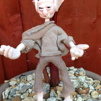 Ooak collectable doll,Magic creature,Ogre,Troll Doll,Polymer clay fantasy doll