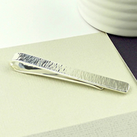 Sterling Silver Tie Slide - Personalised