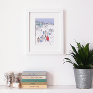 The Promenade - Embroidered Framed Art