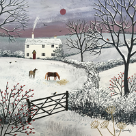 Canvas print from my painting 'Winter Grazing'