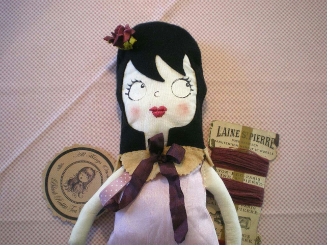 Ottoline Doll - Black Rabbit Tea Party
