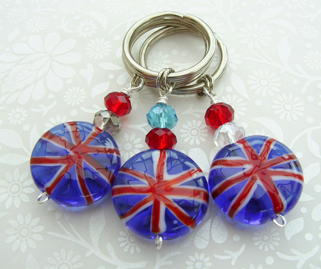 One Handmade Union Jack Keyring