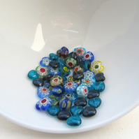 Hearts and flowers bead de-stash