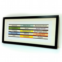 Glasgow Subway Stations - Framed