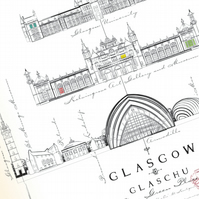 Iconic Glasgow Christmas - set of 9 cards