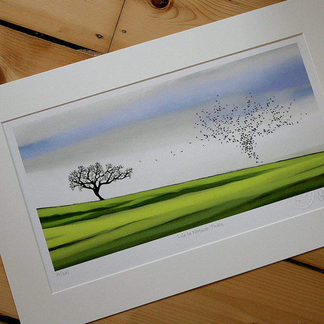 'Life In Nature. Three' Mounted print