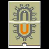 Glasgow District Subway V2 - Large, Giclee Print