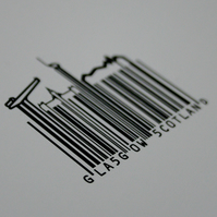 Barcode Glasgow, mounted