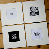 Set of 4 mounts: QR, M8, Barcode & Chocolate Cone