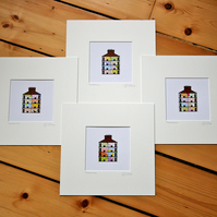 Tenement Ends, mounted. Set of 4