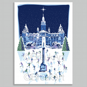'Scotland On Ice'. 12 Christmas Cards