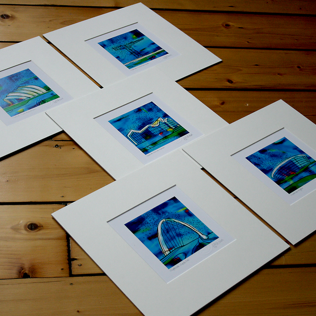 Clydeside Series, mounted. Set of five.