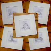 Clydeside Series, mounted. Mono. Set of five.