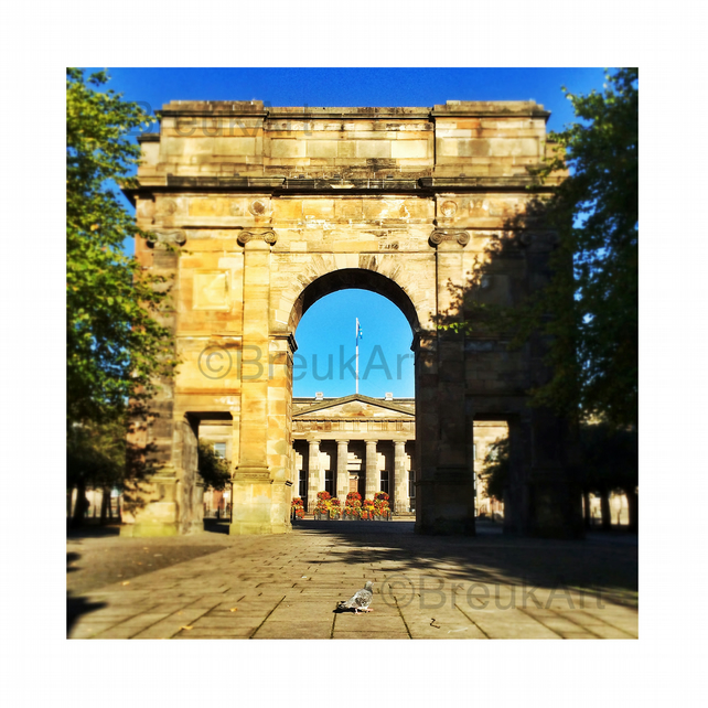 McLennan Arch, Glasgow. Mounted.