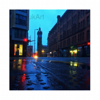 Tolbooth Steeple, Trongate, Glasgow. Mounted.