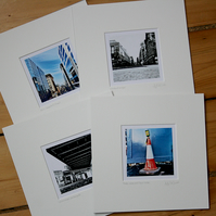 Set of four 'Sunday Morning' prints