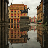 Queen Street, by GoMA, Glasgow. Mounted
