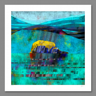 East Rock (Bass Rock). Large Giclee print