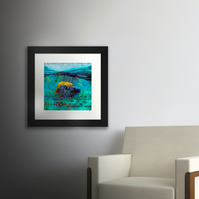 East Rock (Bass Rock). Large framed.