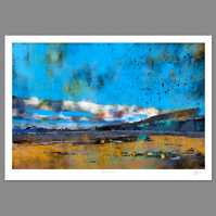 Fidra, Winter. Large Giclee print
