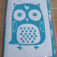 'The lovely owl' - blue