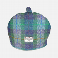 Custom order for Corinne Harris Tweed tea cosy, green and purple